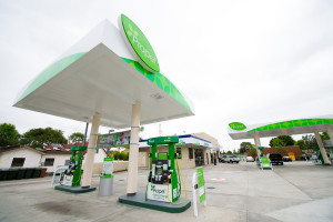 In Fullerton, Calif., Propel Fuels took an old, rundown gas station and turned it into a modern filling station that sells clean, renewable fuels. (Propel)