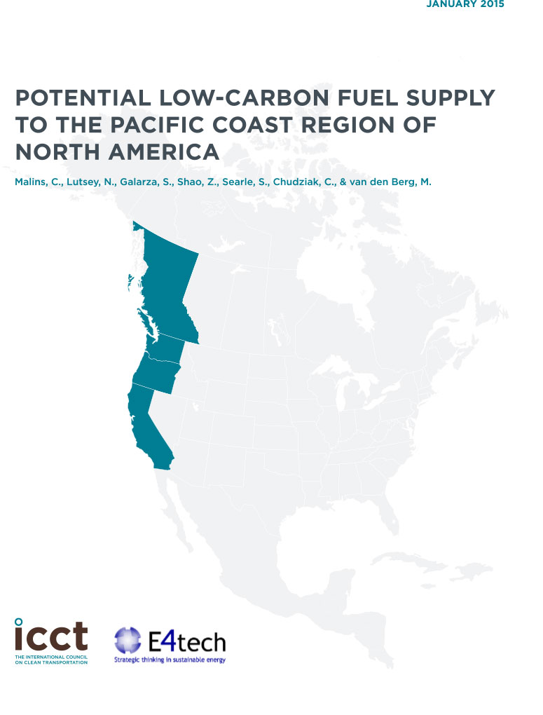Potential Low-Carbon Fuel Supply to the Pacific Coast Region of North America