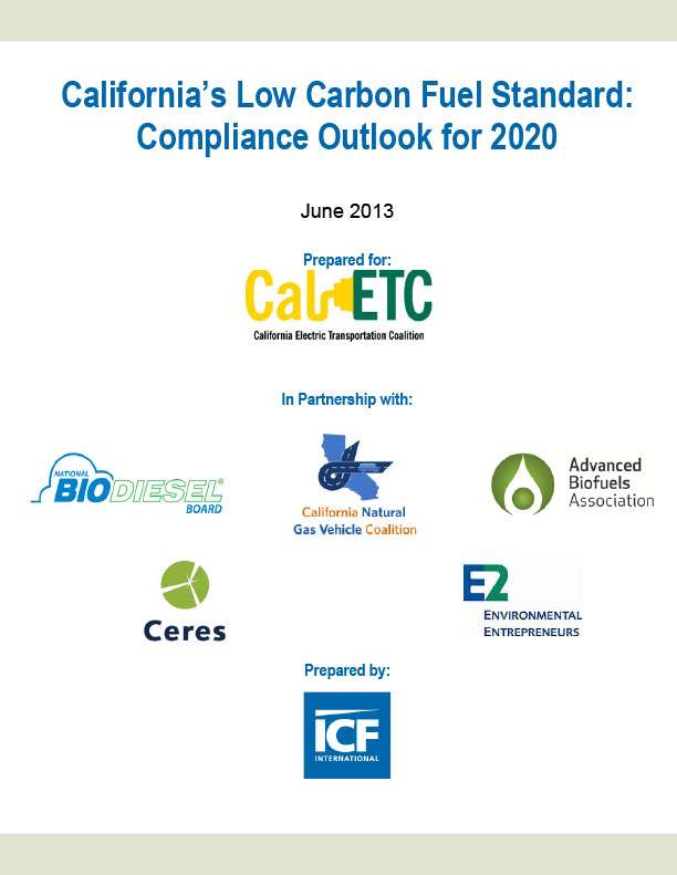 California's Low Carbon Fuel Standard: Compliance Outlook for 2020