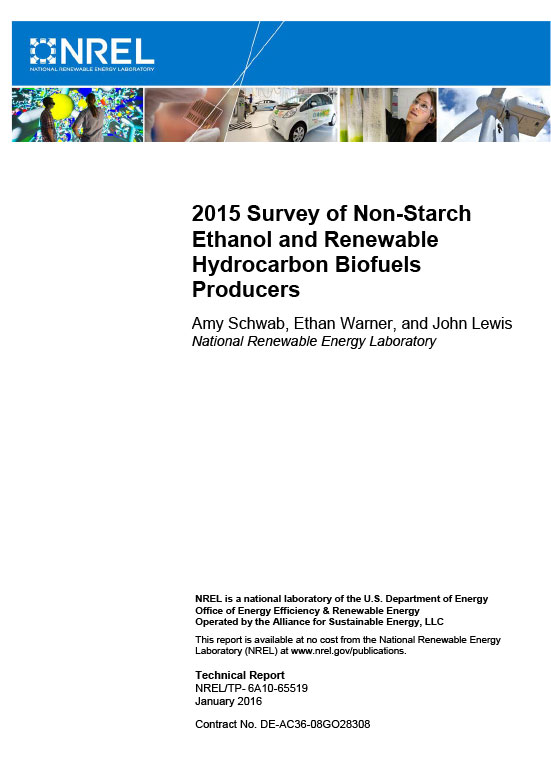 2015 Survey of Non-Starch Ethanol and Renewable Hydrocarbon Biofuels Producers